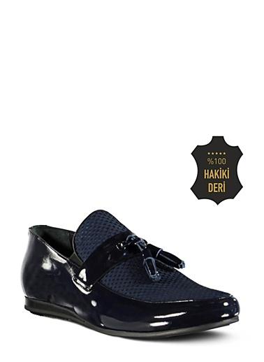 % 100 Deri Düz Ayakkabı-Marjin